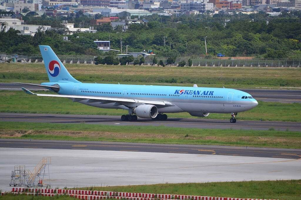 Korean Air Airbus A330 322 HL7540 at Taiwan Taoyuan International Airport