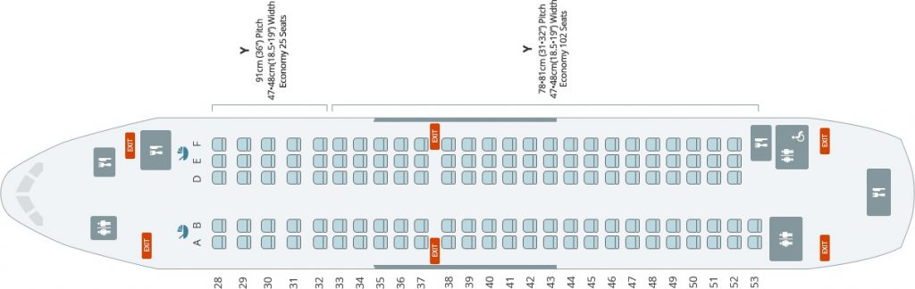 Seat Map and Seating Chart Airbus A220 300 Bombardier CS300 Korean Air 127 Seats