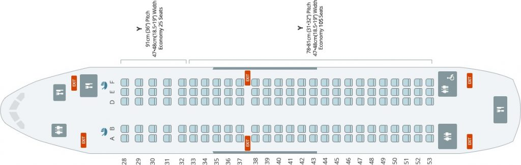 Seat Map and Seating Chart Airbus A220 300 Bombardier CS300 Korean Air 130 Seats
