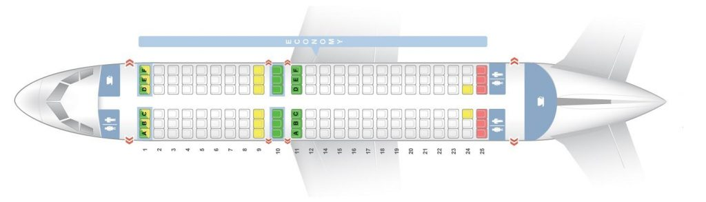 Seat Map and Seating Chart Airbus A319 100 Vueling Airlines