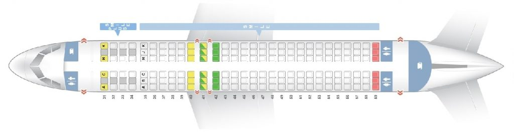 Seat Map and Seating Chart Airbus A320 200 THAI Smile