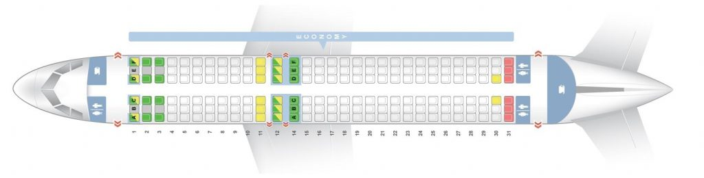 Seat Map and Seating Chart Airbus A320 200 Vueling Airlines