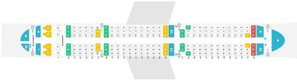 Seat Map and Seating Chart Airbus A321 200 EVA Air