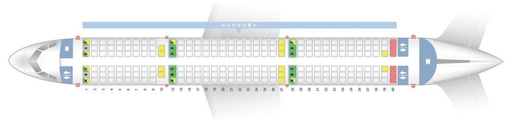 Seat Map and Seating Chart Airbus A321 200 Vueling Airlines