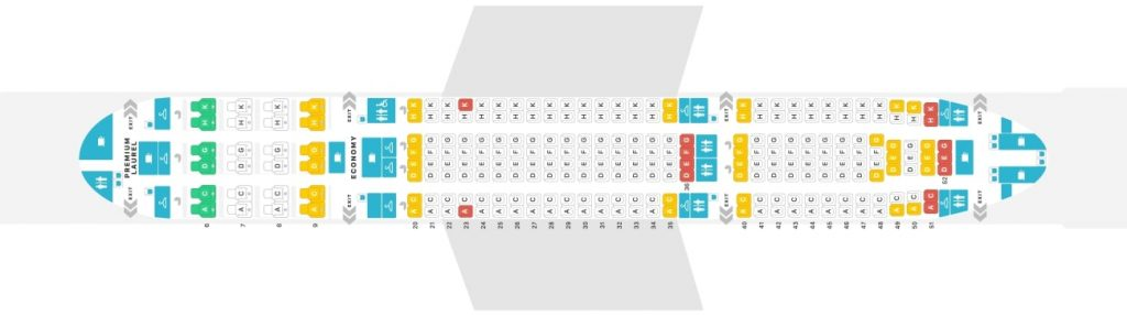 Seat Map and Seating Chart Airbus A330 200 EVA Air