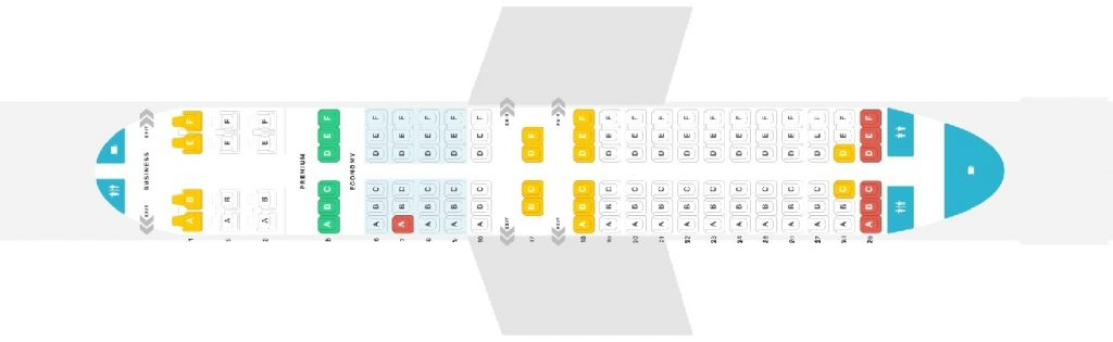 Seat Map and Seating Chart Boeing 737 700 Copa Airlines