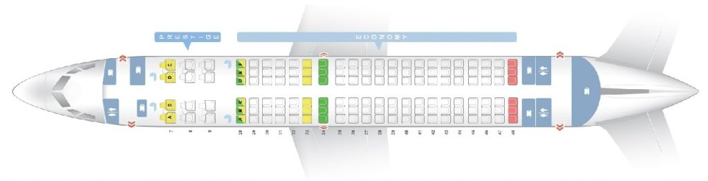 Seat Map and Seating Chart Boeing 737 800 Korean Air 138 Seats