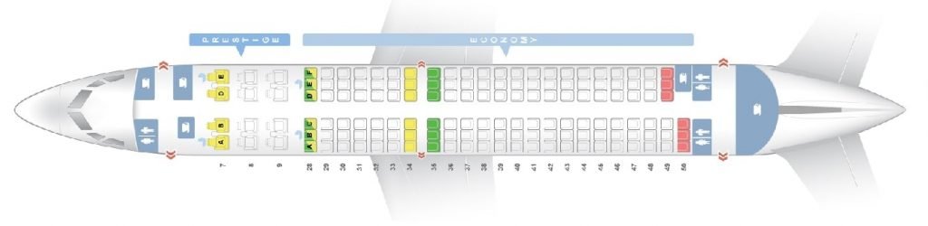 Seat Map and Seating Chart Boeing 737 800 Korean Air 147 Seats