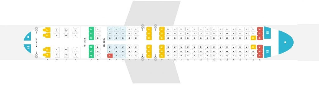 Seat Map and Seating Chart Boeing 737 800 Version 1 Copa Airlines