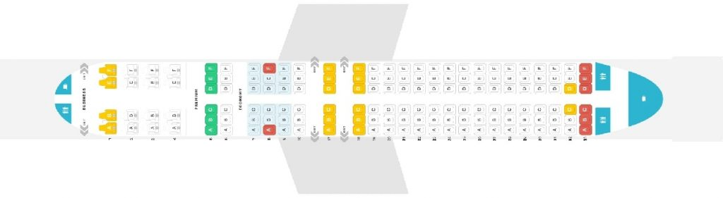 Seat Map and Seating Chart Boeing 737 800 Version 2 Copa Airlines