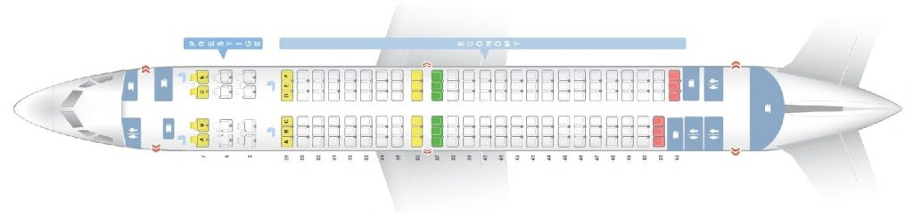 Seat Map and Seating Chart Boeing 737 900ER Korean Air