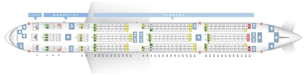 Seat Map and Seating Chart Boeing 777 300 Korean Air