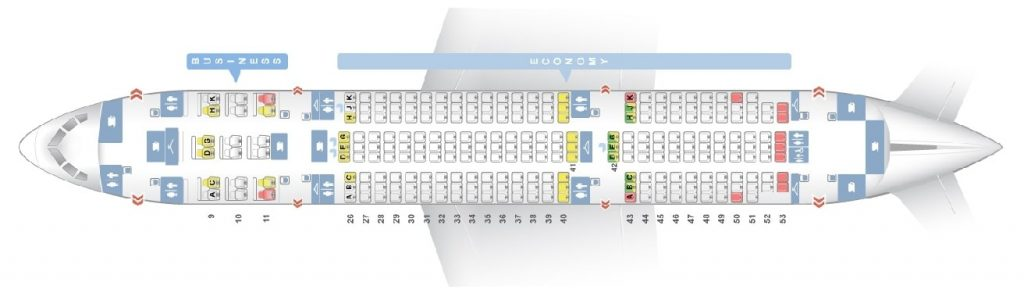 Seat Map and Seating Chart Boeing 787 8 Dreamliner Royal Brunei