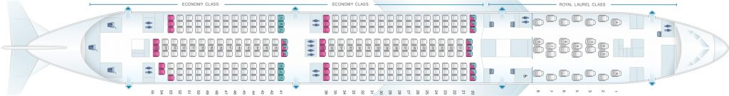 Seat Map and Seating Chart Boeing 787 9 Dreamliner EVA Air