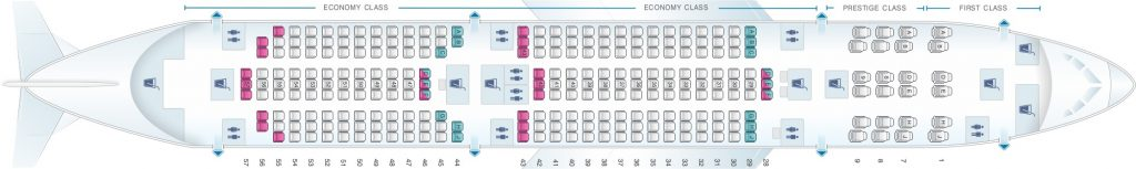 Seat Map and Seating Chart Boeing 787 9 Dreamliner Korean Air
