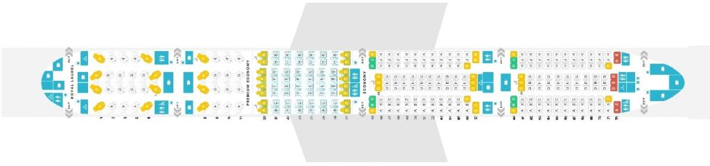 Seat Map and Seating Chart EVA Air Boeing 777 300ER 323 Pax