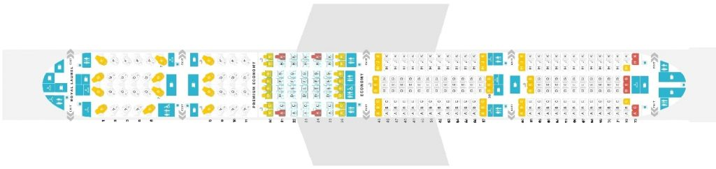 Seat Map and Seating Chart EVA Air Boeing 777 300ER 333 Pax