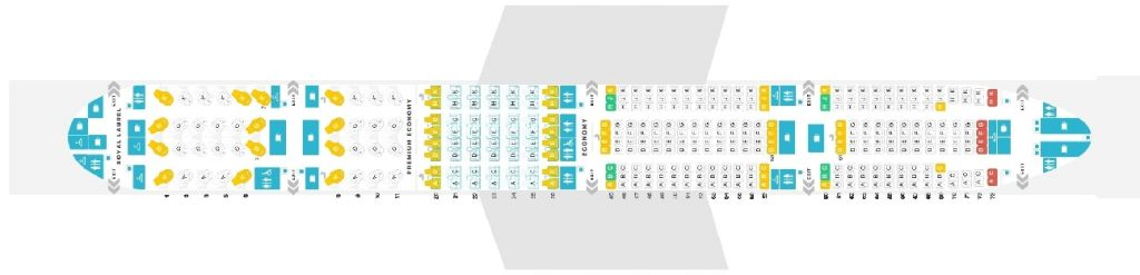 Seat Map and Seating Chart EVA Air Boeing 777 300ER 353 Pax
