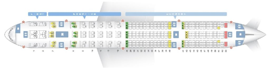 Seat Map and Seating Chart Korean Air Boeing 777 300ER 277 Pax