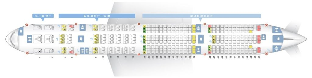 Seat Map and Seating Chart Korean Air Boeing 777 300ER 291 Pax