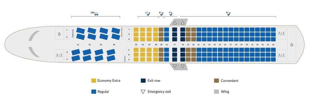 Seat Map and Seating Plan Chart Boeing 737 Max 9 Copa Airlines