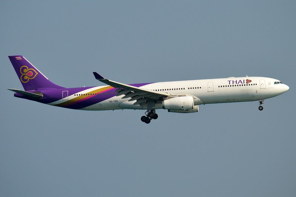 THAI Airways Airbus A330 343 HS TBG Samut Prakan สมุทรปราการ at Phuket International Airport