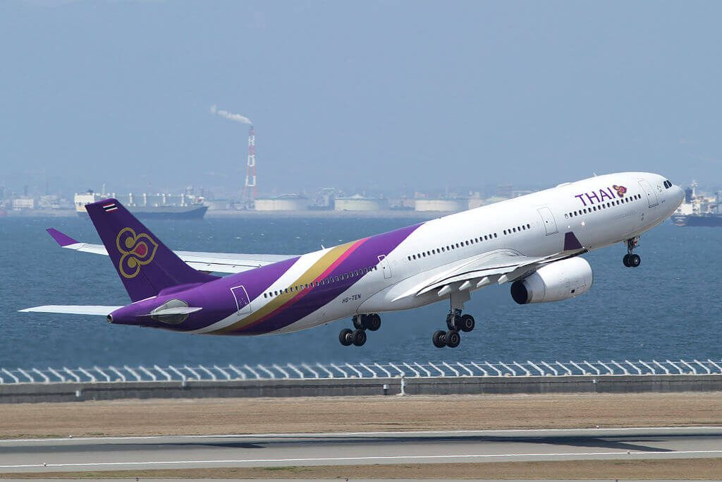 THAI Airways Airbus A330 343 HS TEN Suchada สุชาดา at Chubu International Airport