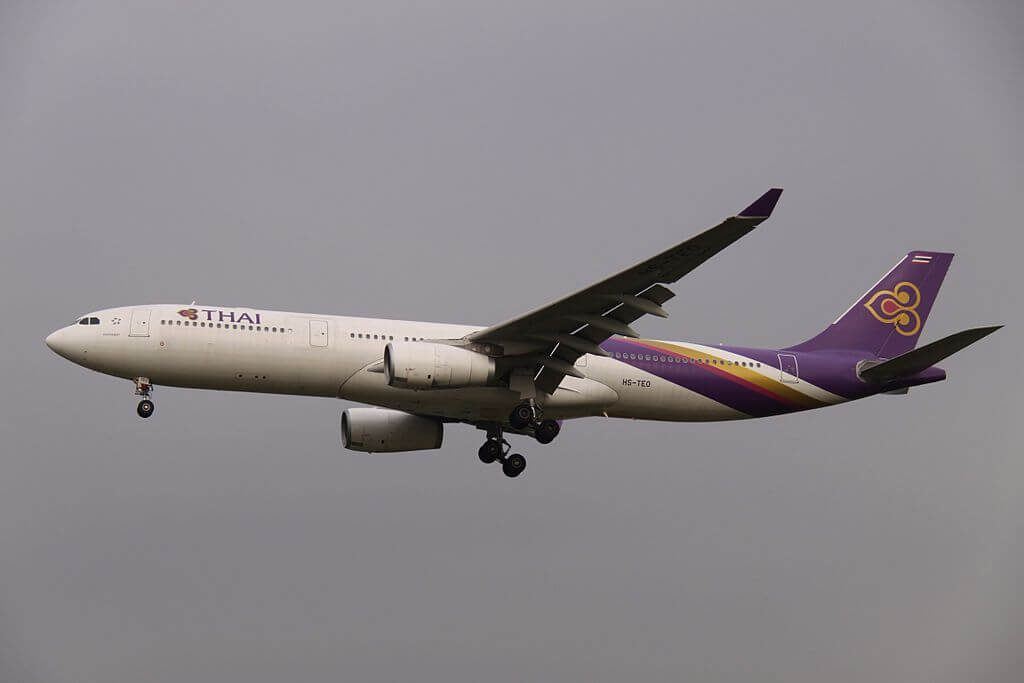 THAI Airways Airbus A330 343 HS TEO Chutamat จุฑามาศ at Beijing Capital International Airport
