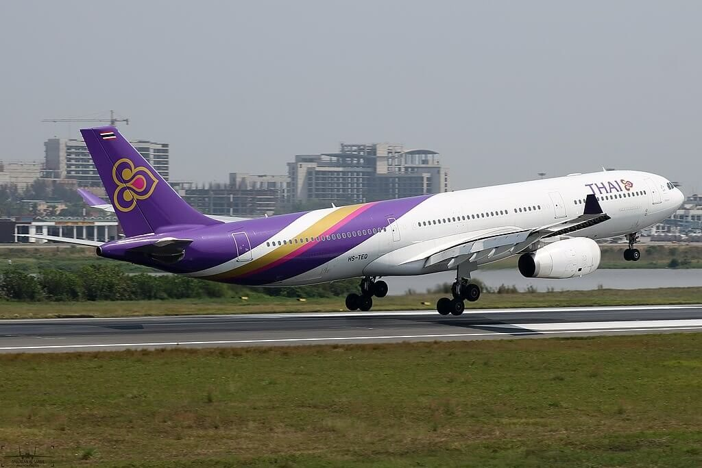 THAI Airways Airbus A330 343 HS TEQ Si Ayutthaya ศรีอยุธยา at Shahjalal International Airport