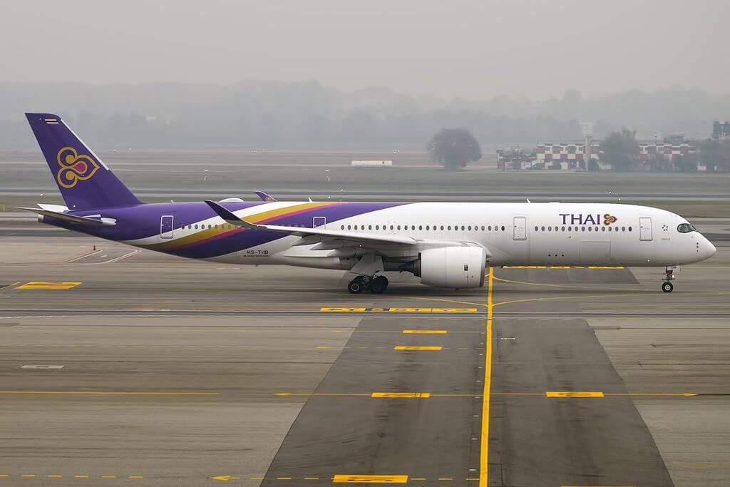 THAI Airways Airbus A350 941 HS THB Wichian Buri วิเชียรบุรี at Milan Malpensa Airport