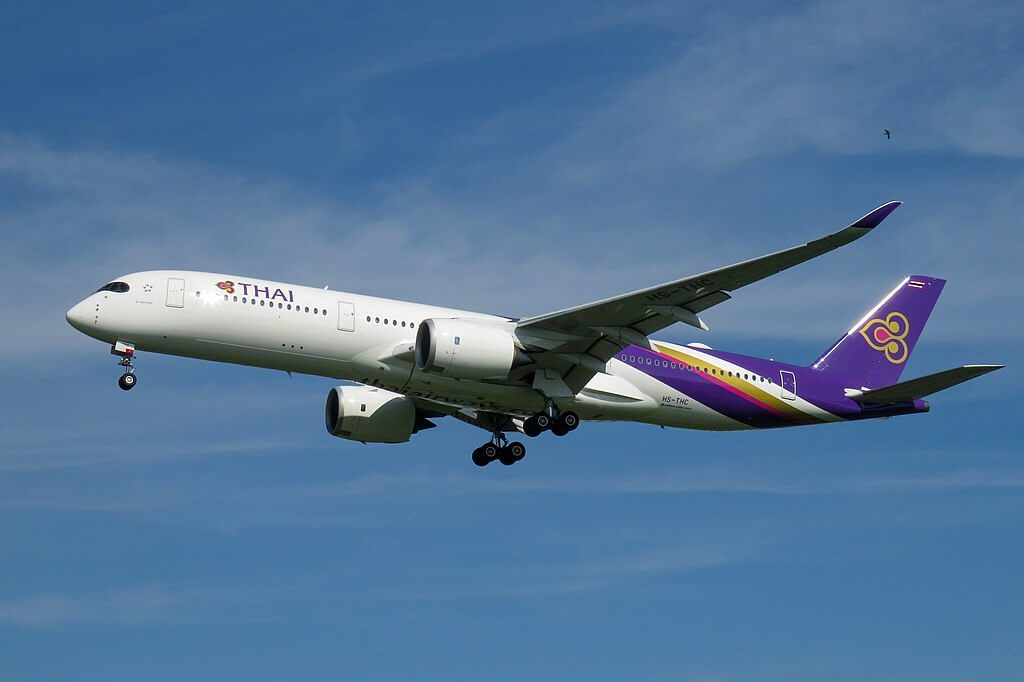 THAI Airways Airbus A350 941 HS THC Si Nakhon ศรีนคร at Beijing Capital International Airport