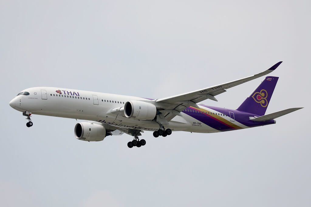 THAI Airways Airbus A350 941 HS THD Uthumphon Phisai อุทุมพรพิสัย at Bangkok