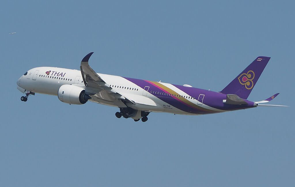 THAI Airways Airbus A350 941 HS THF Yan Nawa ยานนาวา at Suvarnabhumi International Airport