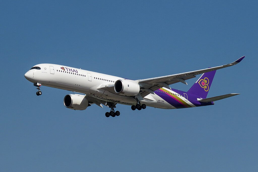 THAI Airways Airbus A350 941 HS THG Phu Pha Man ภูผาม่าน at Beijing Capital International Airport