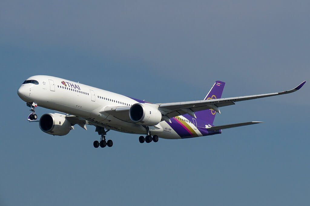 THAI Airways Airbus A350 941 HS THH Than To ธารโต at Beijing Capital International Airport