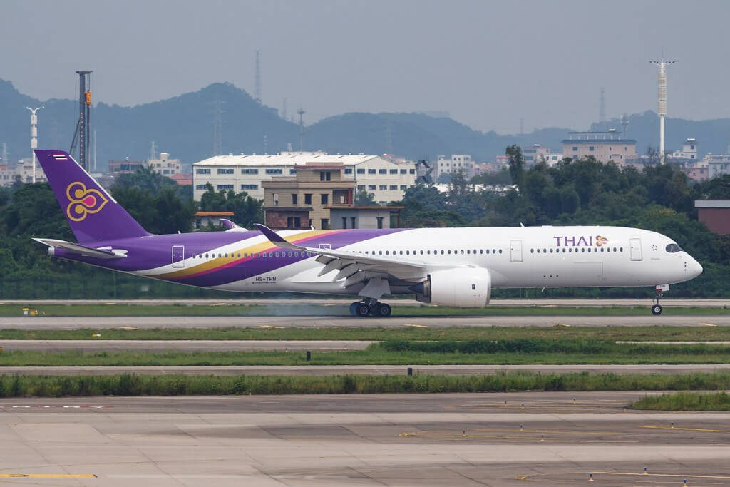 THAI Airways Airbus A350 941 HS THN Khiri Rat Nikhom คีรีรัฐนิคม