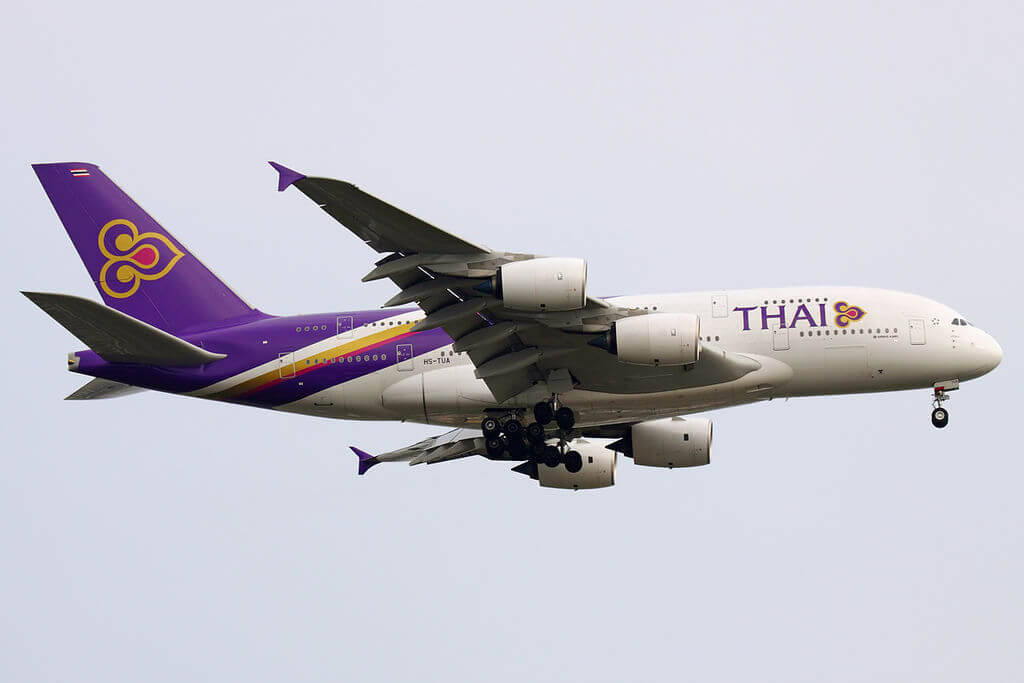 THAI Airways Airbus A380 841 HS TUA Si Rattana ศรีรัตนะ at Suvarnabhumi International Airport