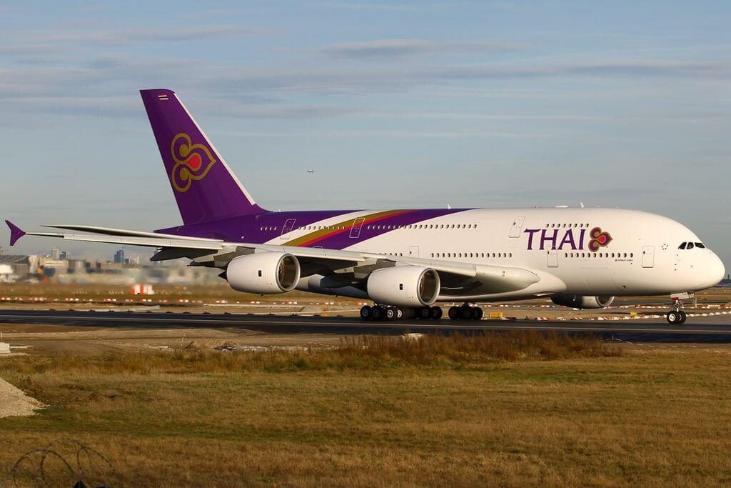 THAI Airways Airbus A380 841 HS TUC Chaiya ไชยา at Frankfurt Airport