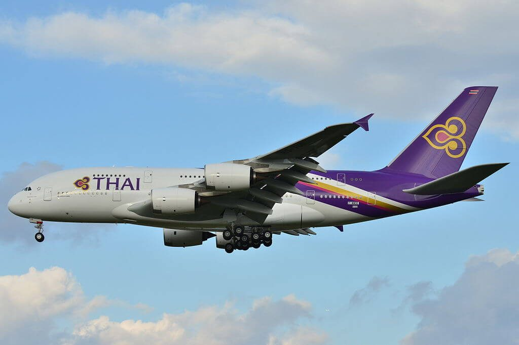 THAI Airways Airbus A380 841 HS TUD Phayuha Khiri พยุหะคีรี at Toulouse Blagnac International Airport