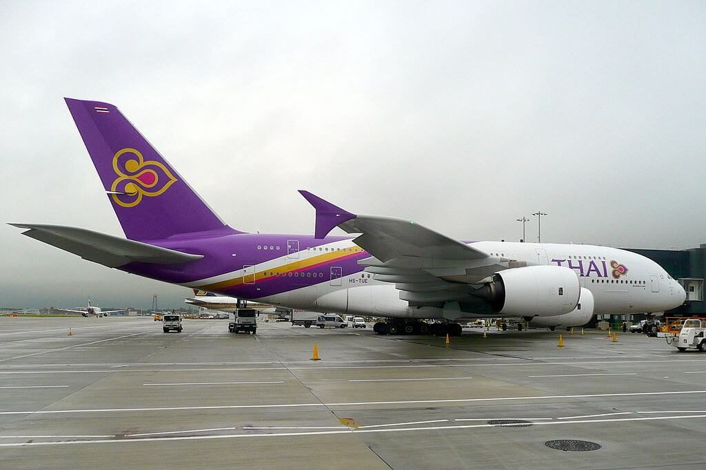 THAI Airways Airbus A380 841 HS TUE Si Racha ศรีราชา at London Heathrow Airport