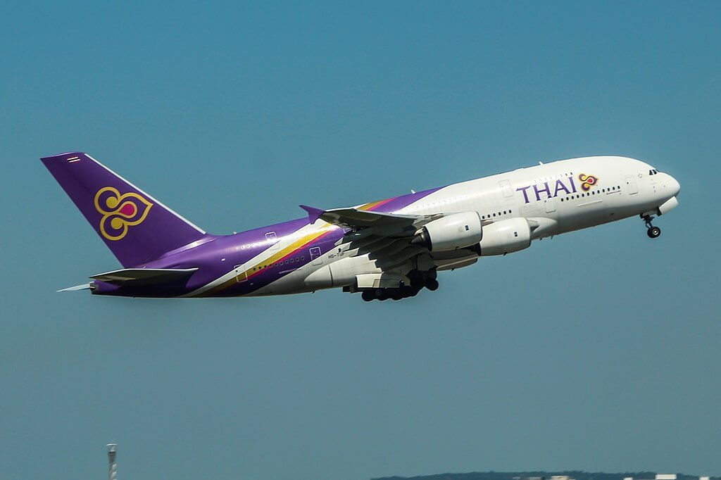 THAI Airways Airbus A380 841 HS TUF Kamalasai กมลาไสย at London Heathrow Airport
