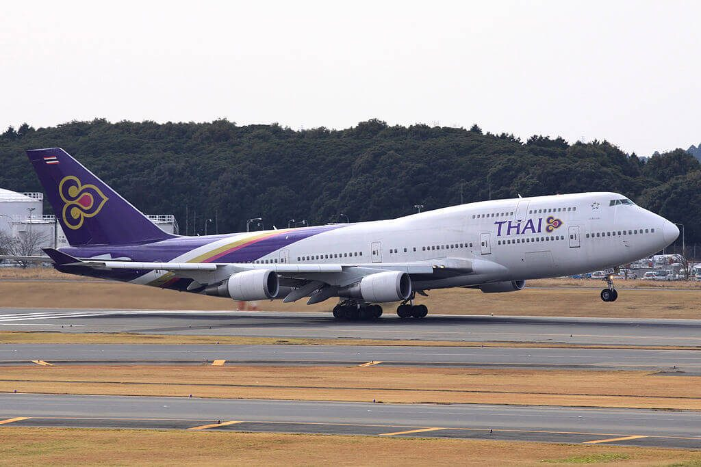 THAI Airways Boeing 747 4D7 HS TGB Si Satchanalai ศรีสัชนาลัย at Narita International Airport
