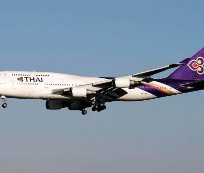 THAI Airways Boeing 747 4D7 HS TGF Sri Ubon ศรีอุบล at Fiumicino Airport