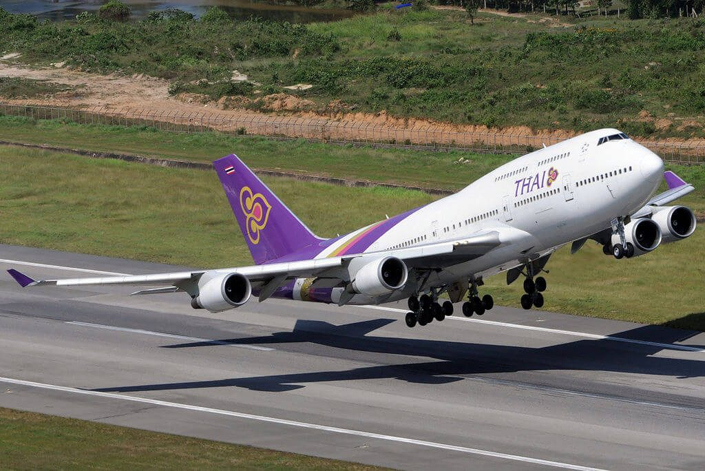 THAI Airways Boeing 747 4D7 HS TGG Pathoomawadi ปทุมาวดี at Phuket International Airport