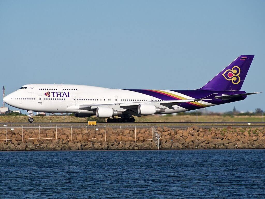 THAI Airways Boeing 747 4D7 HS TGX Sirisobhakya ศิริโสภาคย์ at Sydney Airport