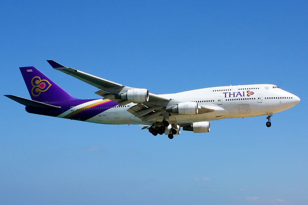 THAI Airways Boeing 747 4D7 HS TGZ Phimara พิมรา at Phuket International Airport