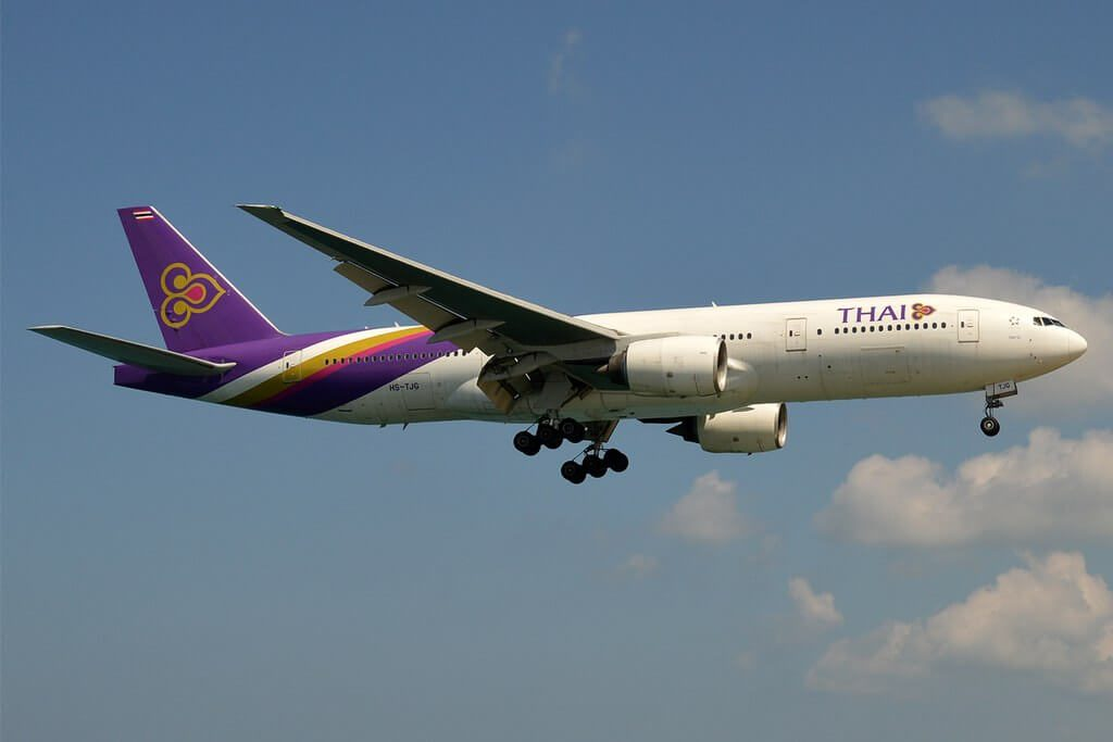 THAI Airways Boeing 777 2D7 HS TJG Pattani ปัตตานี at London Heathrow Airport