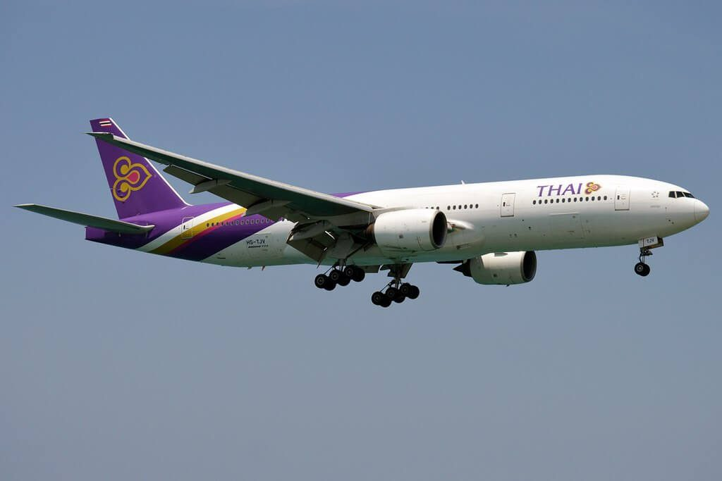 THAI Airways Boeing 777 2D7ER HS TJV Nakhon Pathom นครปฐม