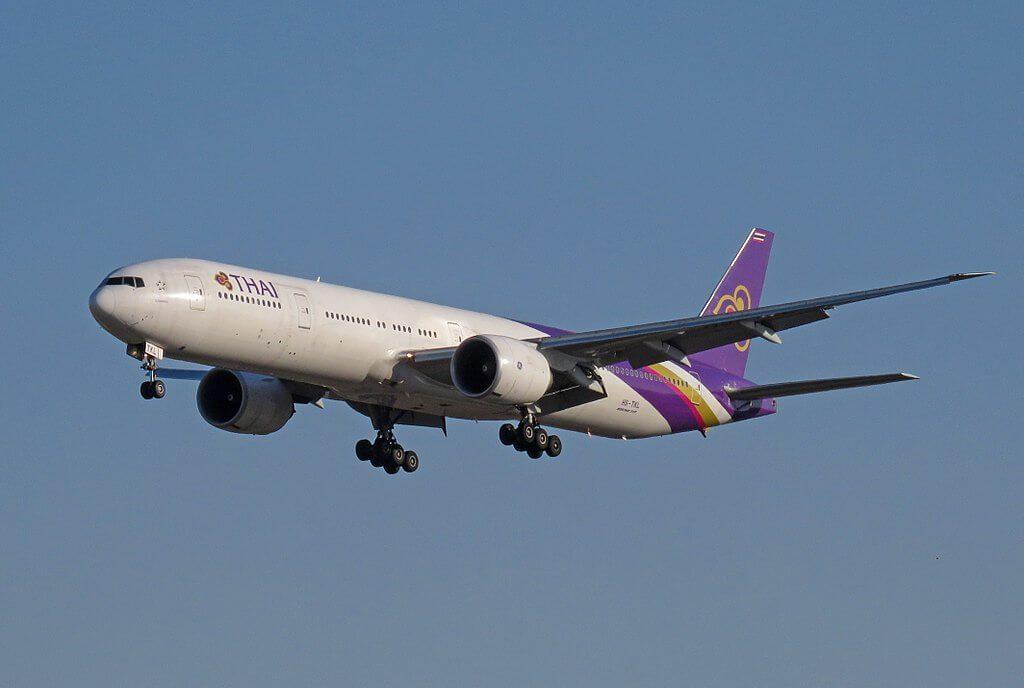 THAI Airways Boeing 777 3ALER HS TKL Sunanda สุนันทา at Beijing Capital International Airport