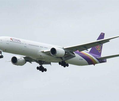 THAI Airways Boeing 777 3D7 HS TKB Chainarai ชัยนารายณ์ at Suvarnabhumi International Airport